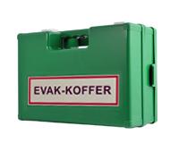 evakuierungskoffer mit wandhalterung zur aufbewahrung von evakuierungszubehoer