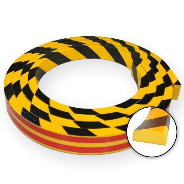 Knuffi SHG Warn- und Schutzprofil   Typ D   gelb/schwarz   5m Rolle