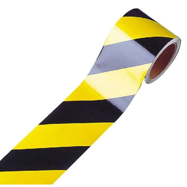 Warnmarkierung | gelb-schwarz | linksweisend | 7,5cm breit
