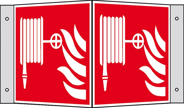 Brandschutzzeichen: Löschschlauch   Kunststoff   20x20cm