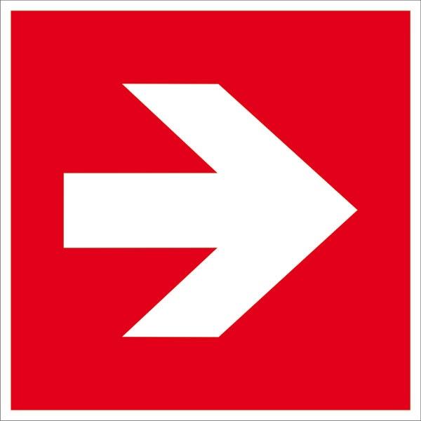 Zusatzschild: Richtungspfeil gerade | Aufkleber | 15x15cm