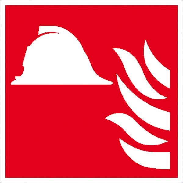 Brandschutzzeichen: Brandbekämpfung   Kunststoff   20x20cm