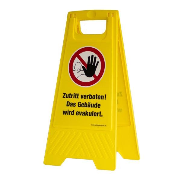 Mobiler Warnaufsteller   Zutritt verboten