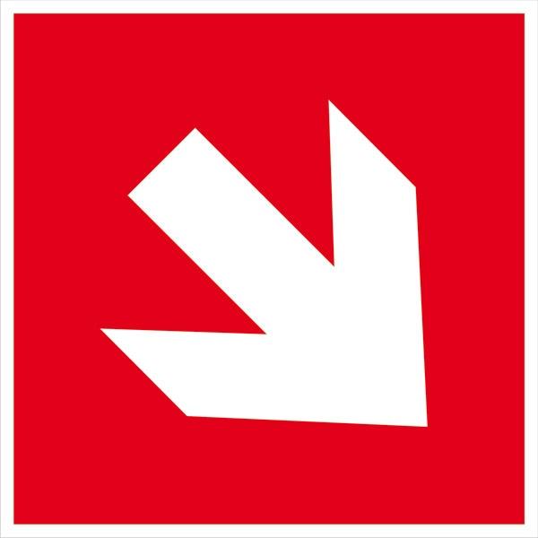 Zusatzschild: Richtungspfeil schräg | Aluminium | 15x15cm