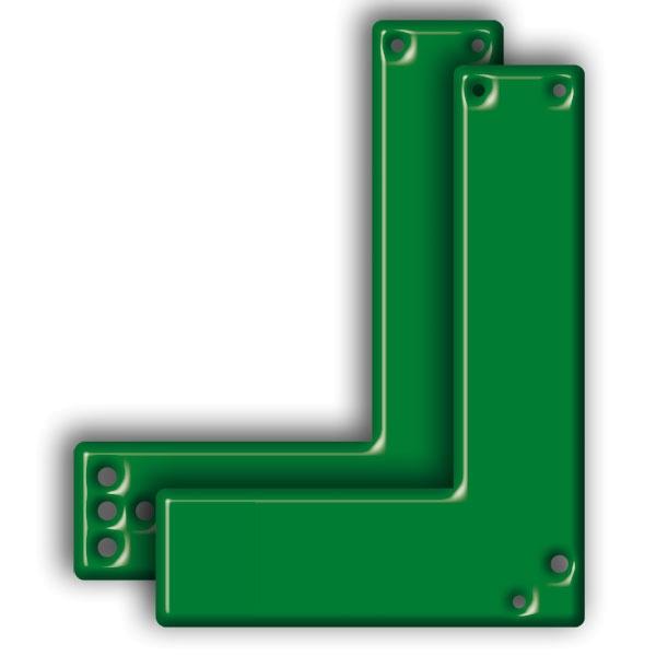 Montageplatte für Schwenk-Türwächter | lang | winkelform