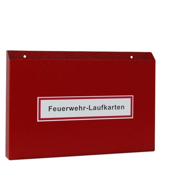 Feuerwehr-Laufkartendepot für DIN A4 quer