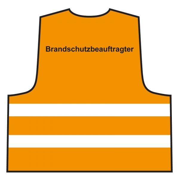 Warnweste - Brandschutzbeauftragter | orange