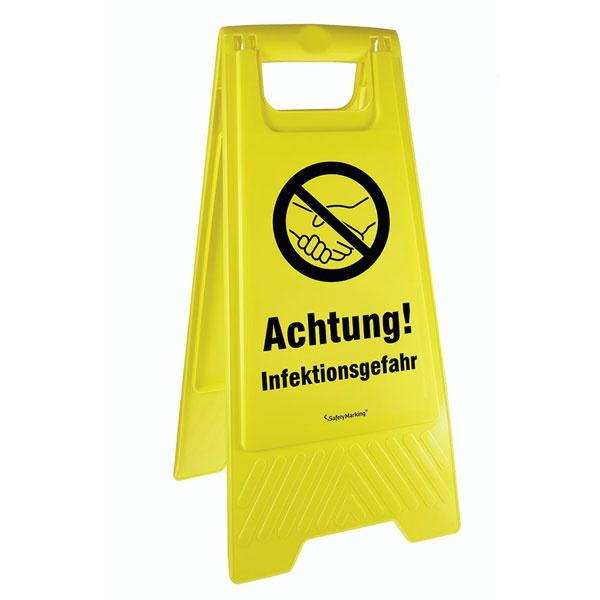 Mobiler Warnaufsteller   Achtung! Infektionsgefahr!
