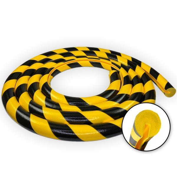 Knuffi SHG Warn- und Schutzprofil | Typ B | gelb/schwarz | 5m Rolle