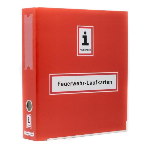 A4-Ordner für Feuerwehr-Laufkarten | Farbe: ca. RAL 3000