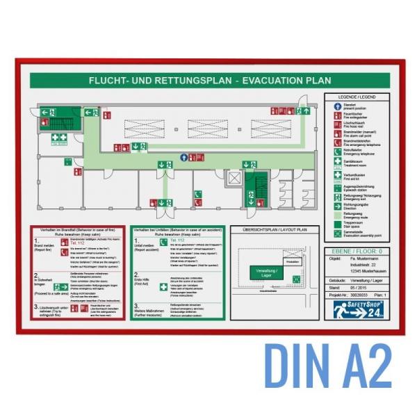 Rahmen für Flucht- und Rettungspläne - SafetyFrame P