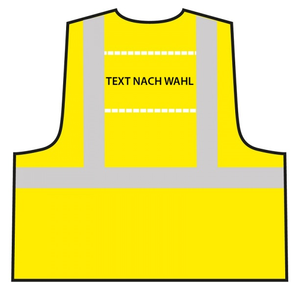 Multifunktionsweste - Gelb | Text nach Wahl