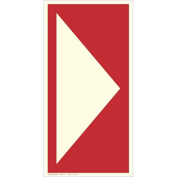Zusatzschild: Richtungspfeil gerade | Aufkleber | 7,5x15cm