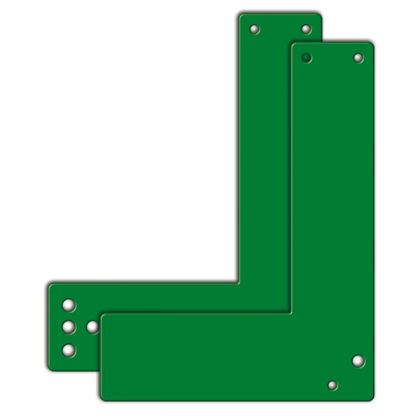 Montageplatte für Einhand-Türwächter | lang | winkelform