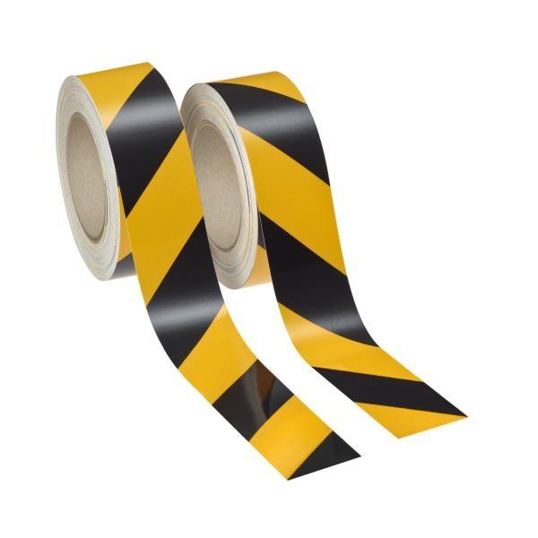 Industrie-Warnmarkierung   gelb-schwarz   je 1x rechts & links   reflektierend
