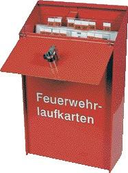 Feuerwehr-Laufkartendepot - für DIN A4 hoch