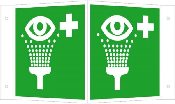 Erste-Hilfe-Schild: Augenspüleinrichtung   Aluminium   20x20cm
