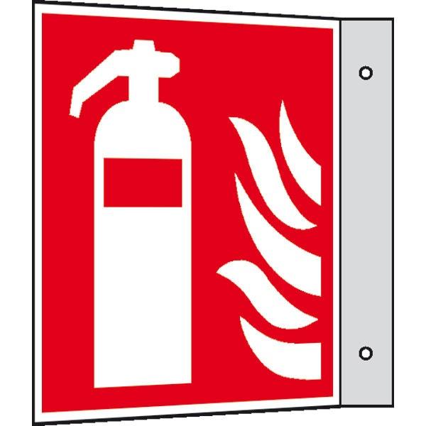 Brandschutzzeichen: Feuerlöscher   Aluminium   30x30cm