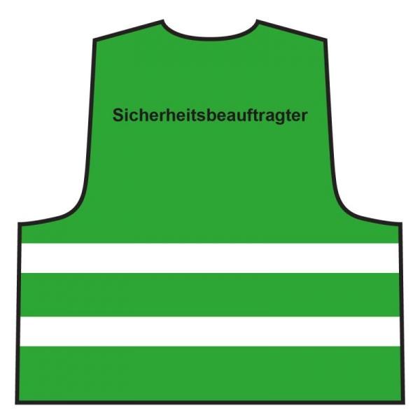 Warnweste - Sicherheitsbeauftragter   grün