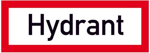 Hinweisschild für die Feuerwehr: Hydrant | Aluminium geprägt | 29,7x10,5cm