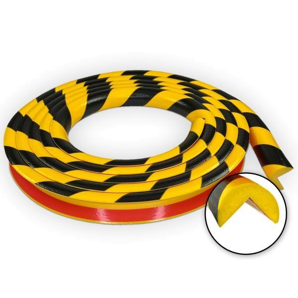 Knuffi SHG Warn- und Schutzprofil   Typ A   gelb/schwarz   5m Rolle