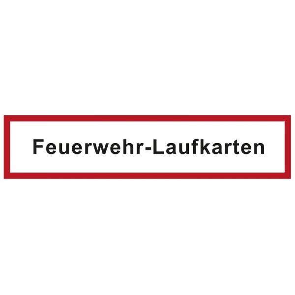 Hinweisschild für die Feuerwehr: Feuerwehr-Laufkarten | Aufkleber | 21x5cm