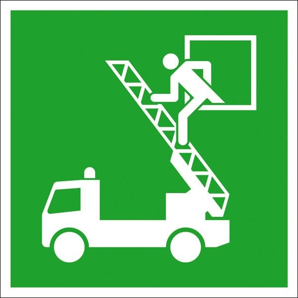 Rettungszeichen: Rettungsausstieg | Kunststoff | 15x15cm