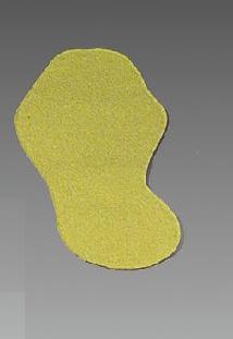 m2-Antirutschbelag™ - Schuhform | gelb