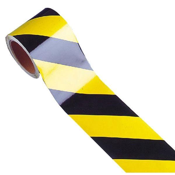 Warnmarkierung | gelb-schwarz | rechtsweisend | 5cm breit