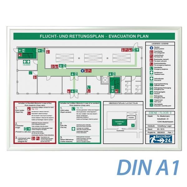 Standardrahmen für Flucht- und Rettungspläne - DIN A1