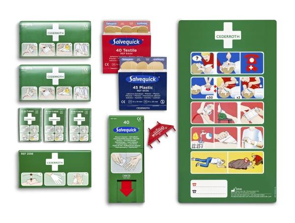 Cederroth | Erste-Hilfe-Tafel Nachfüllset | 133-teilig