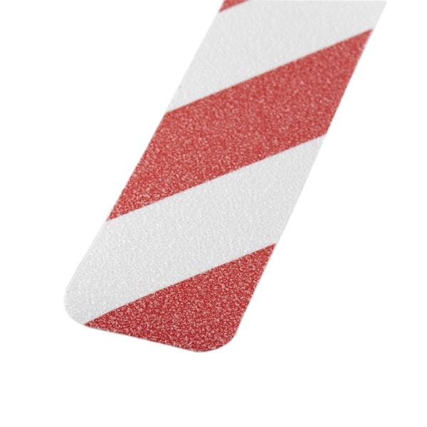 m2-Antirutschbelag™ | 10 Einzelstreifen rot/weiß | 2,5 cm breit