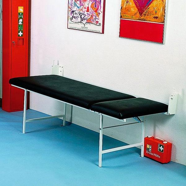 Söhngen | Wandklapp-Untersuchungsliege | 65 cm hoch | schwarz
