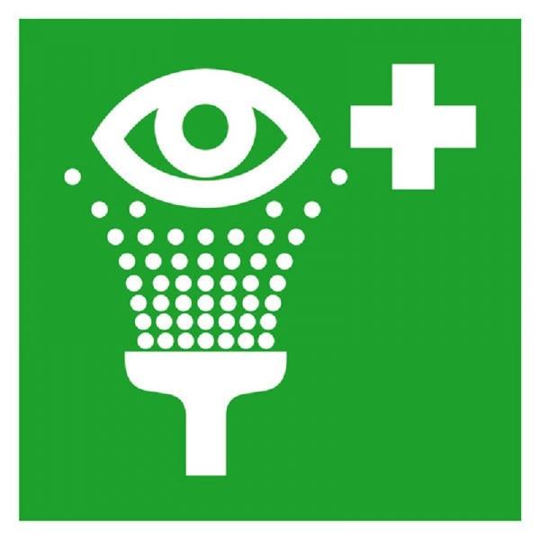 Erste-Hilfe-Schild: Augenspüleinrichtung | Kunststoff | 15x15cm