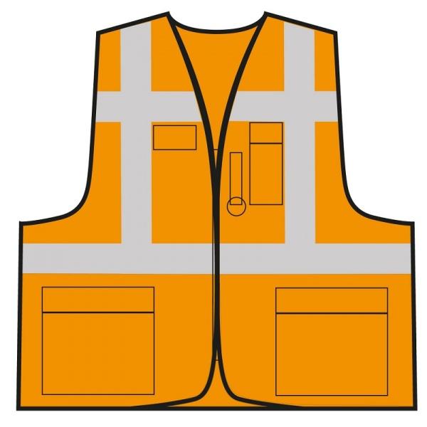 Multifunktionsweste - Orange