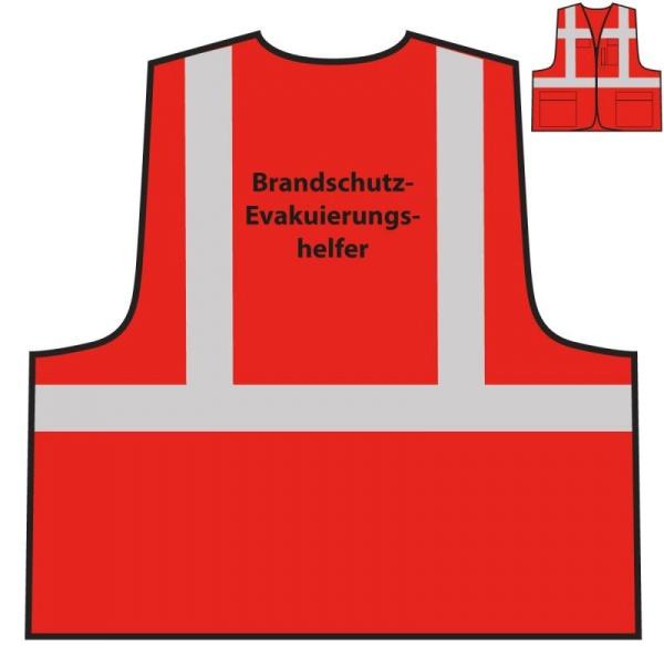 Multifunktionsweste - Brandschutz-/ Evakuierungshelfer | rot
