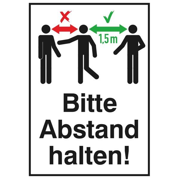 "Hinweisschild ""Bitte Abstand halten!"" | Aufkleber | 13,1x18,5cm"