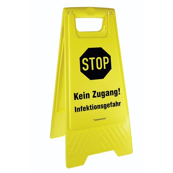 Mobiler Warnaufsteller | Kein Zugang! Infektionsgefahr!