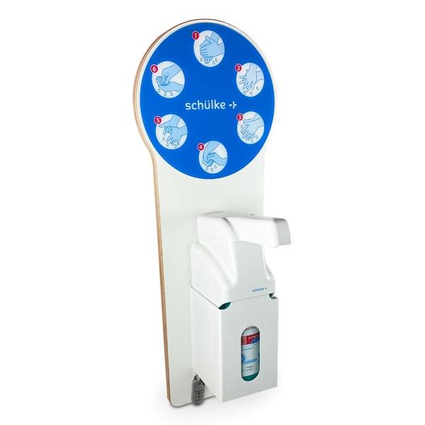 Design-Hygiene-Wandspender | Desinfektionsmittelspender mit Armhebel | weiß
