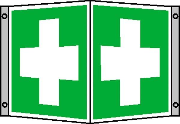 Erste-Hilfe-Schild: Erste Hilfe | Aluminium | 20x20cm