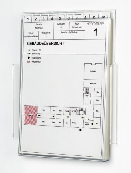 Feuerwehr-Laufkartendepot - für DIN A5 hoch