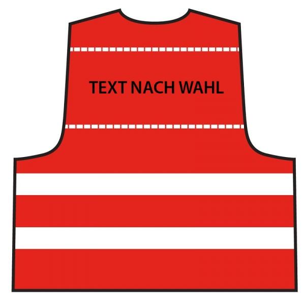Warnweste - Rot | Text nach Wahl
