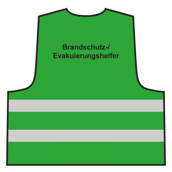 Warnweste - Brandschutz-/ Evakuierungshelfer | grün