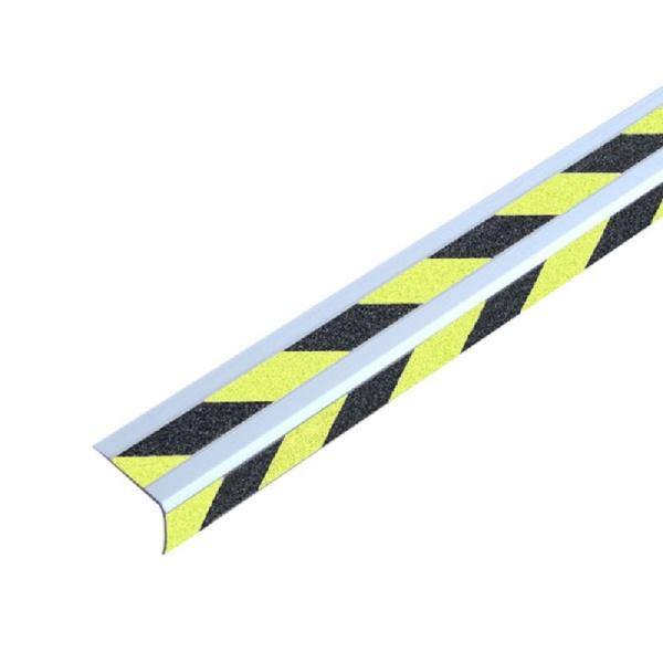Doppel-Treppenkantenprofil | schraubbar | schwarz/gelb