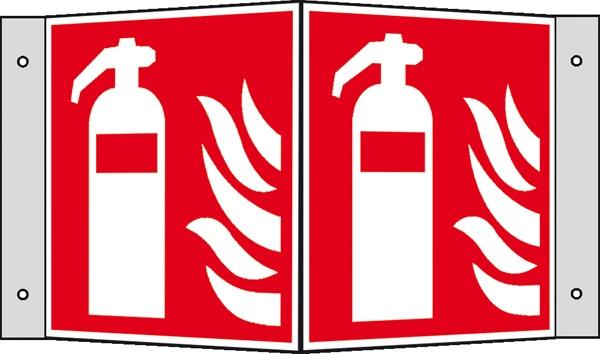 Brandschutzzeichen: Feuerlöscher | Kunststoff | 15x15cm