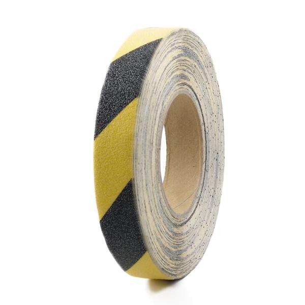 m2-Antirutschbelag™ | Rolle gelb/schwarz | 2,5 cm breit