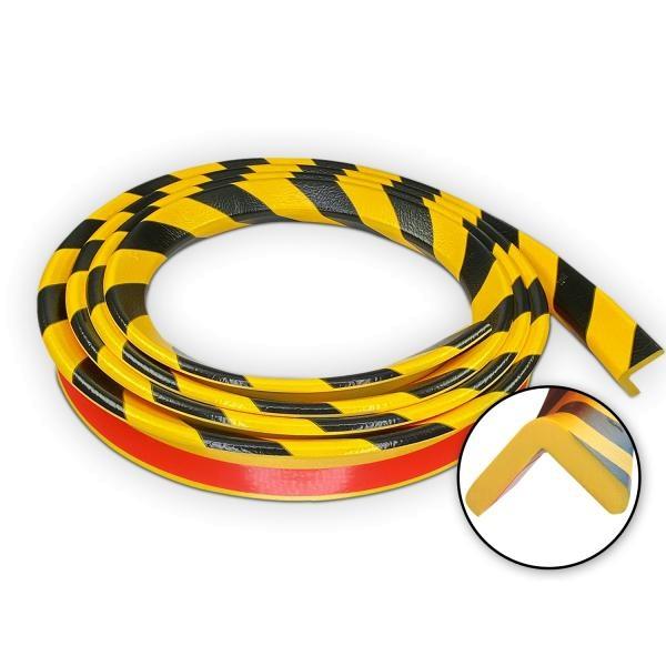 Knuffi SHG Warn- und Schutzprofil | Typ H | gelb/schwarz | 5m Rolle