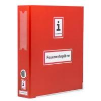 A4-Ordner für Feuerwehrpläne | Farbe: ca. RAL 3000