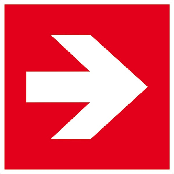 Zusatzschild: Richtungspfeil gerade | Aufkleber | 20x20cm