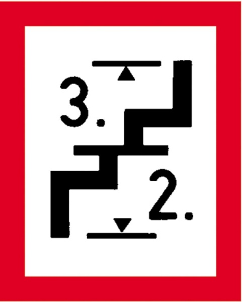 Hinweisschild für die Feuerwehr: Treppe | Aluminium geprägt | 20x25cm